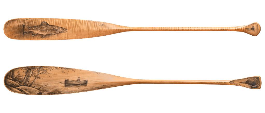 Арт-серия каноэ весло Shaw&Tanney $1995 штука