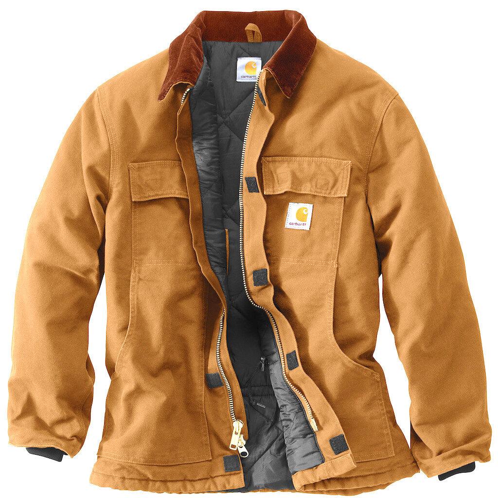 Куртка Carhartt горчичного цвета на молнии