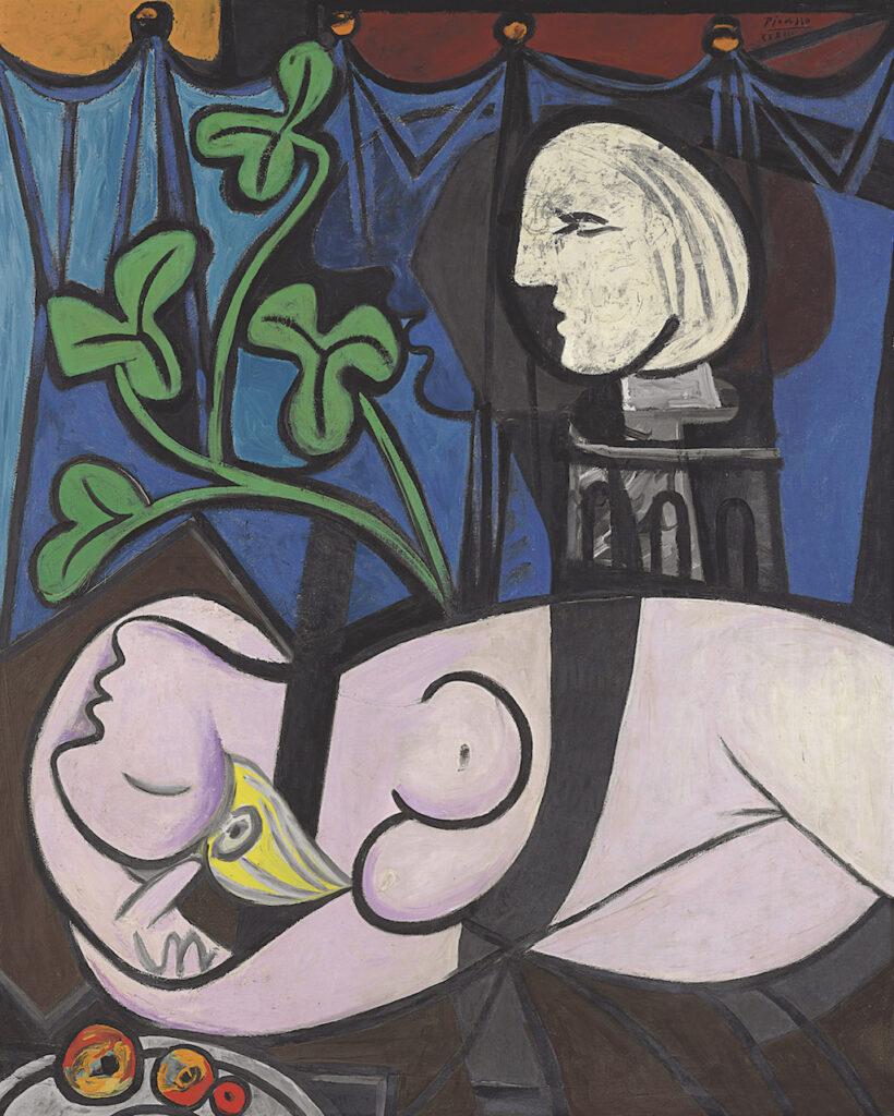 Полотно Пабло Пикассо «Обнаженная, зеленые листья и бюст». Фото из вики