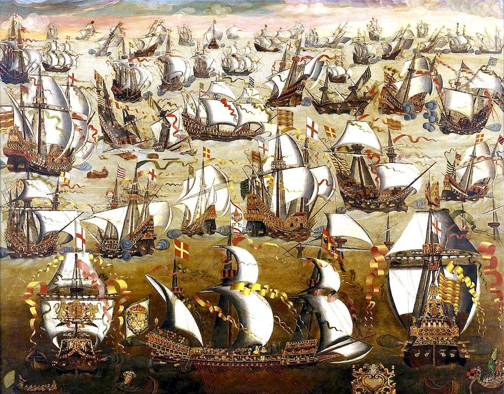 Анлийский и испанский флот битва на море